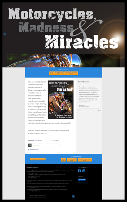Featured Project:  Motorcycles, Miracles and Madness